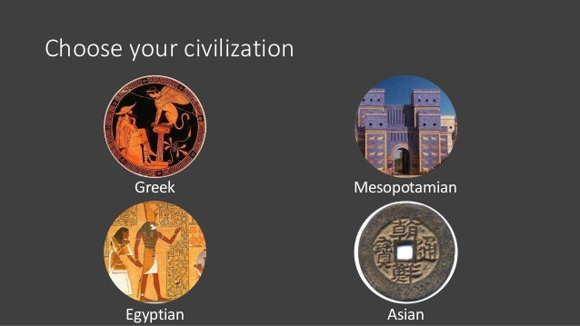 Choose your civilization Greek Egyptian Mesopotamian Asian