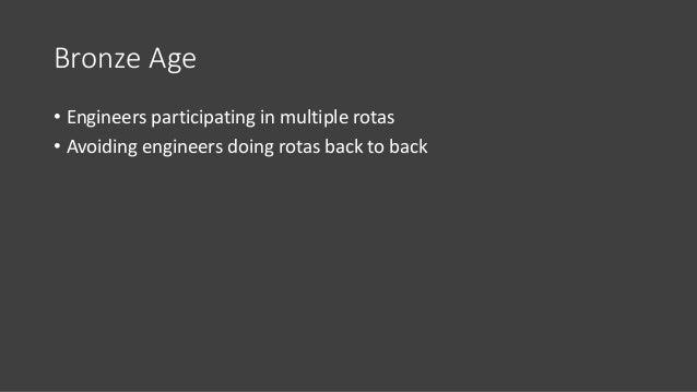 Bronze Age • Acacio's list when joining the program (origin: internal meetup with Acacio Cruz –> Google SRE and co-author ...