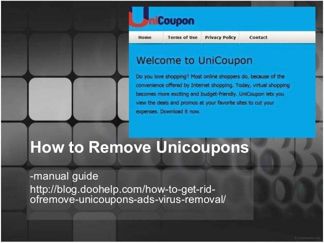 unicoupons malware removal