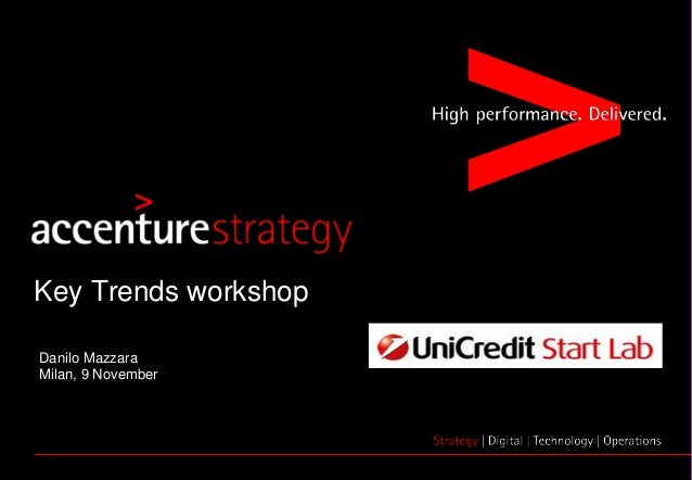 Copyright © 2015 Accenture All Rights Reserved. 1 Danilo Mazzara Milan, 9 November Key Trends workshop