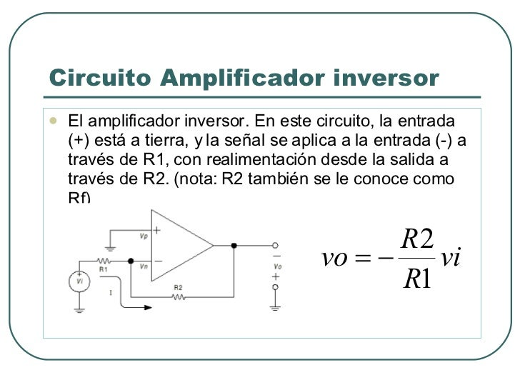 Circuito Operacional : Unidad el amplificador operacional x