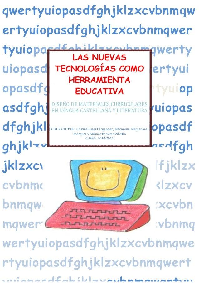 DISEÑO DE MATERIALES CURRICULARES EN LENGUA CASTELLANA Y LITERATURA Página 2 qwertyuiopasdfghjklzxcvbnmqw ertyuiopasdfghjk...