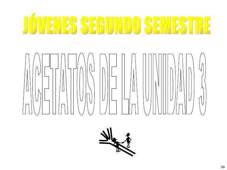 ACETATOS DE LA UNIDAD 3 JÓVENES SEGUNDO SEMESTRE 99