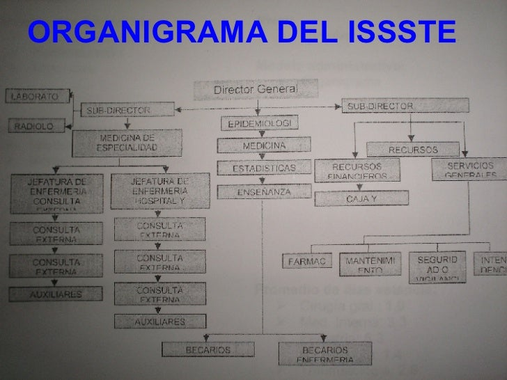 ORGANIGRAMA DEL ISSSTE