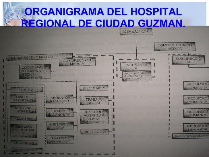 ORGANIGRAMA DEL HOSPITAL REGIONAL DE CIUDAD GUZMAN.