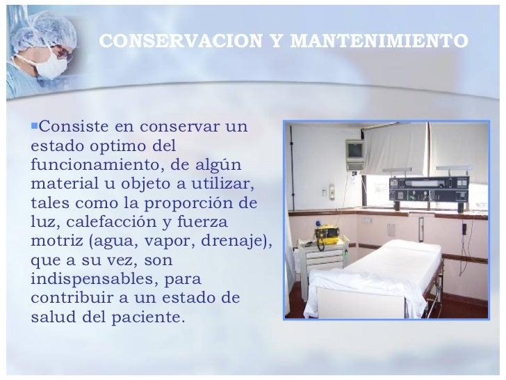 <ul><li>Consiste en conservar un estado optimo del funcionamiento, de algún material u objeto a utilizar, tales como la pr...