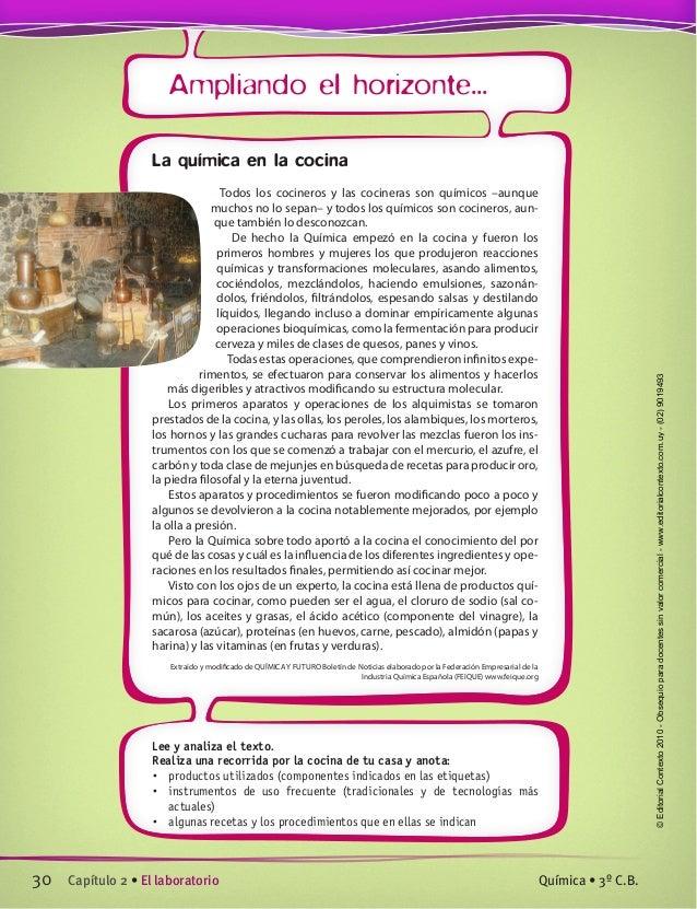 Unidad 0 y 1 for Libro la quimica y la cocina pdf