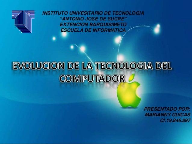 """INSTITUTO UNIVESITARIO DE TECNOLOGIA""""ANTONIO JOSE DE SUCRE""""EXTENCION BARQUISIMETOESCUELA DE INFORMATICAPRESENTADO POR:MARI..."""