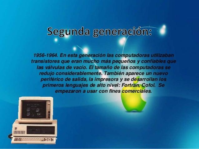 1965-1970. Esta generación se caracteriza por la utilizaciónde chips de circuitos integrados. Un chip permite agruparmiles...