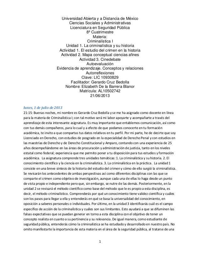 1 Universidad Abierta y a Distancia de México Ciencias Sociales y Administrativas Licenciatura en Seguridad Pública 8º Cua...
