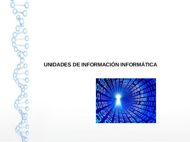 UNIDADES DE INFORMACIÓN INFORMÁTICA