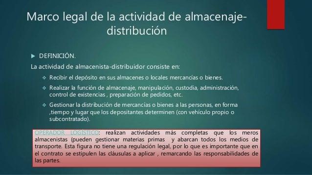Unidad 1.normativa específica del almacenaje