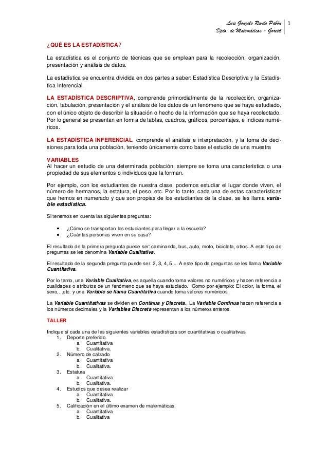 Luis Gonzalo Revelo Pabón 1                                                                               Dpto. de Matemát...