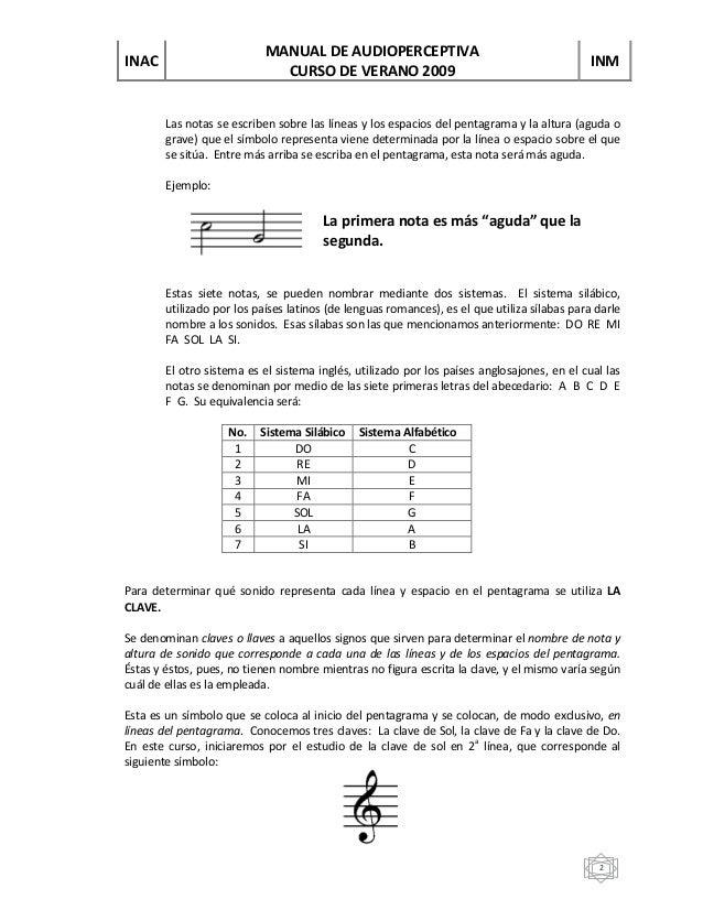 Unidad 1 Pentagrama Claves Y Figuras De Notas