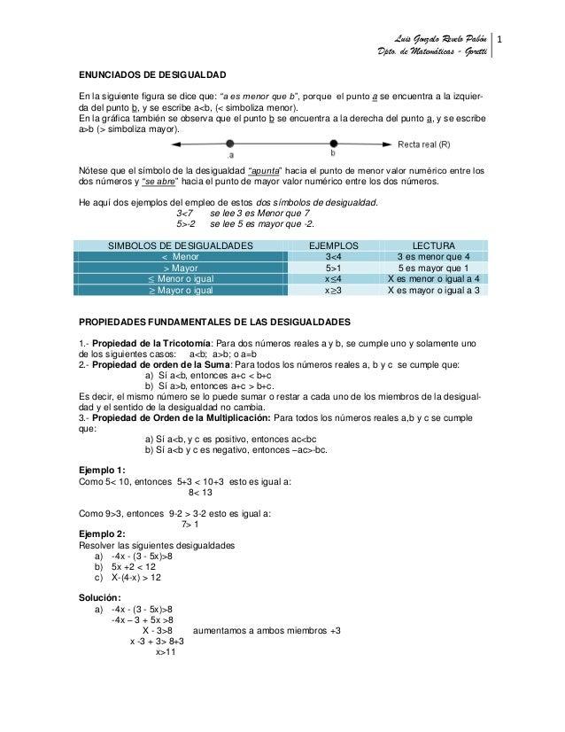 Luis Gonzalo Revelo Pabón 1                                                                         Dpto. de Matemáticas -...