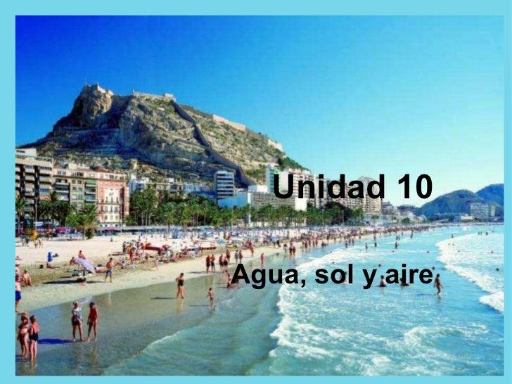 Unidad 10 Agua, sol y aire