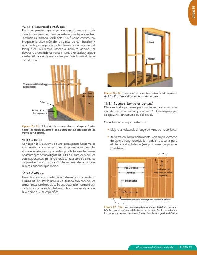 Unidad 10 entram verticalviviendas en madera biblioteca - Dinteles de madera ...