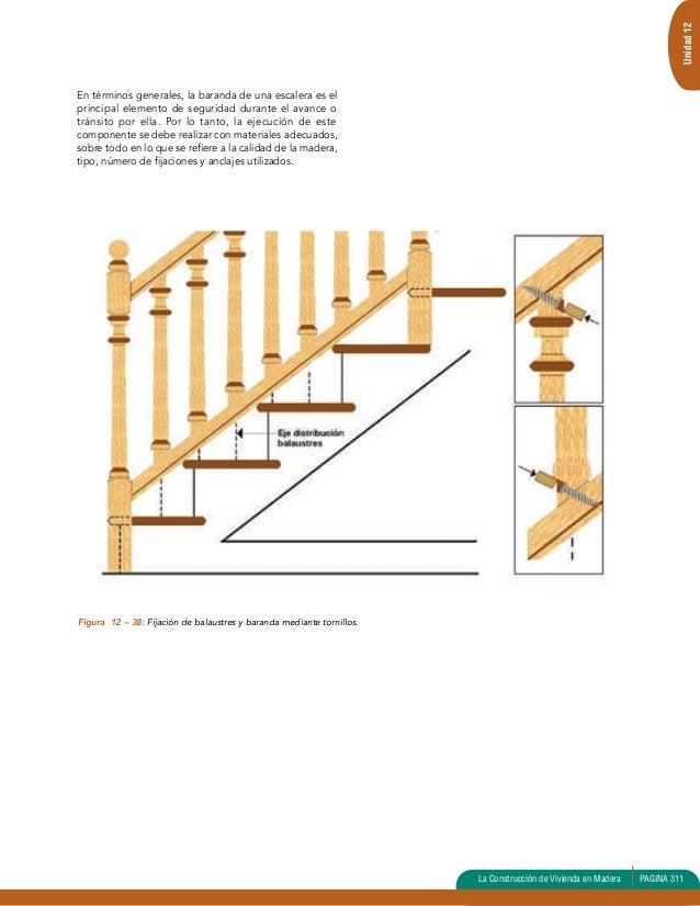 Como hacer una barandilla de madera ideas de disenos for Materiales para hacer una escalera