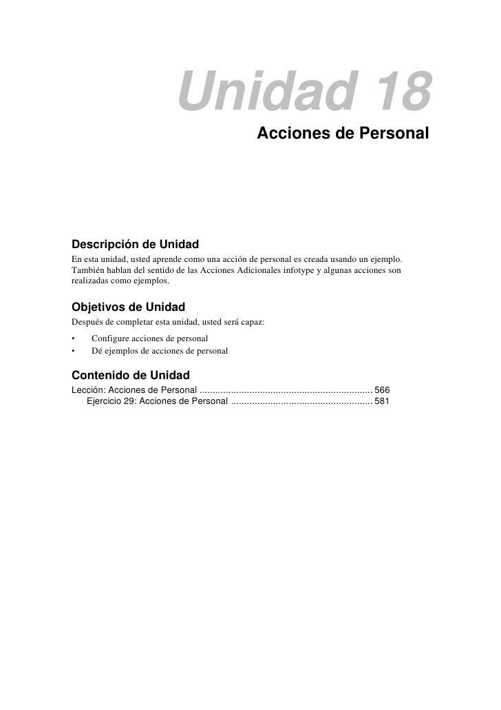 Unidad 18                                                          Acciones de PersonalDescripción de UnidadEn esta unidad...