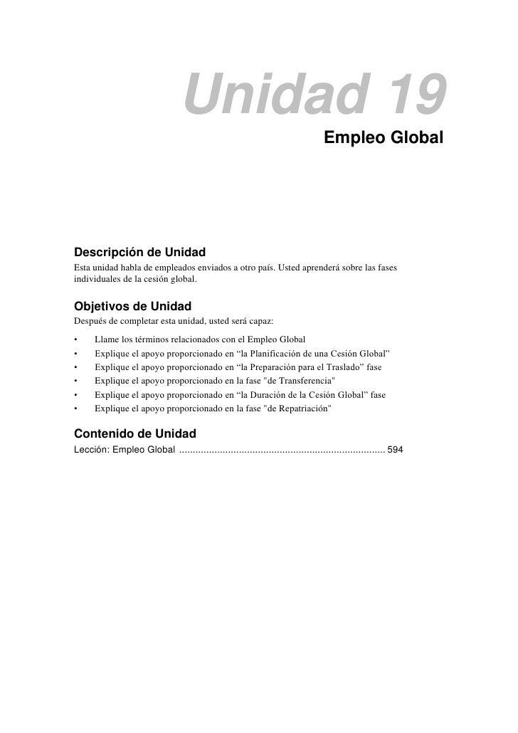 Unidad 19                                                                              Empleo GlobalDescripción de UnidadE...