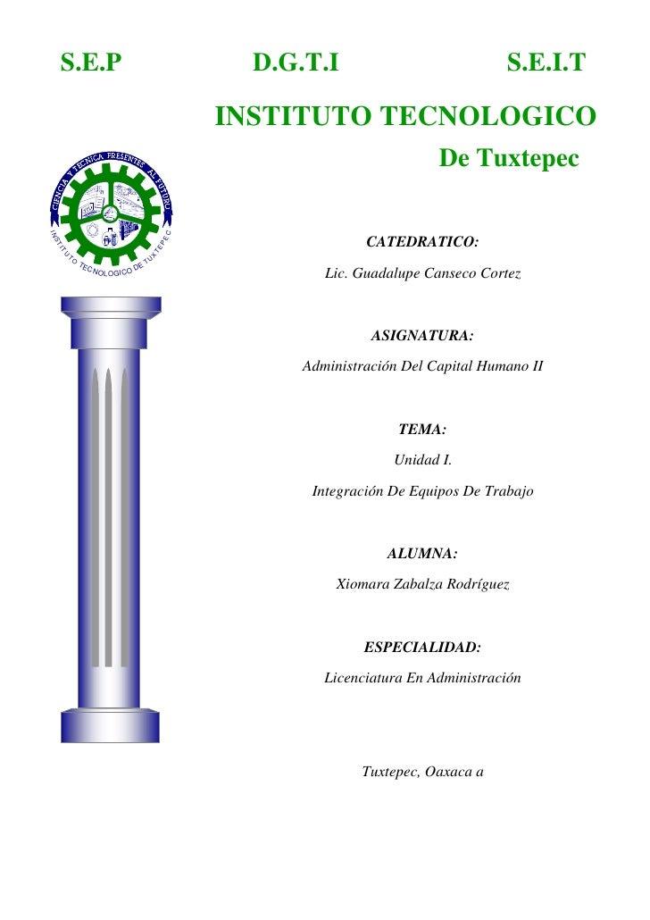 INSTITUTO TECNOLOGICOS.E.I.TD.G.T.IS.E.P<br />De Tuxtepec<br />-508635-1284605<br />CATEDRATICO:Lic. Guadalupe Canseco Cor...