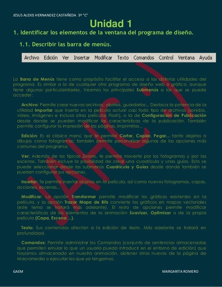 """JESUS ALEXIS HERNANDEZ CASTAÑEDA 3º """"C""""                                          Unidad 11. Identificar los elementos de l..."""