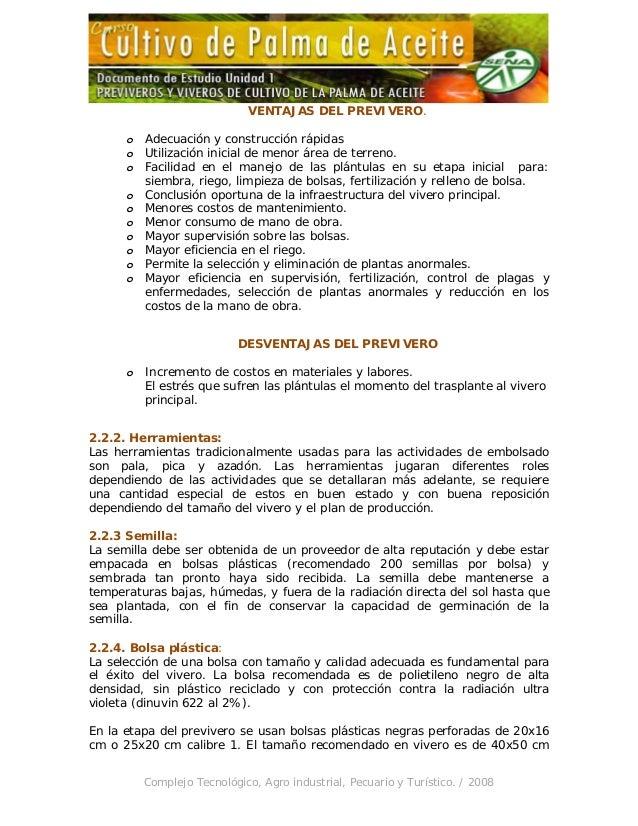 Unidad 1 previveros y viveros de cultivo de la palma de aceite for Herramientas que se utilizan en un vivero