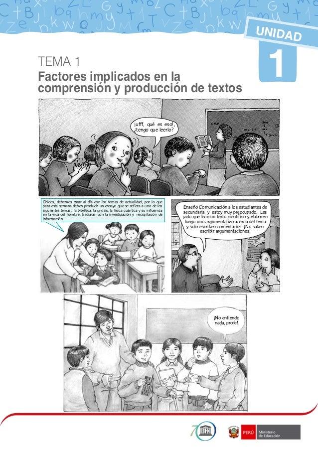 1 1 UNIDAD TEMA 1 Factores implicados en la comprensión y producción de textos ¡ufff, qué es eso!, ¿tengo que leerlo? Chic...