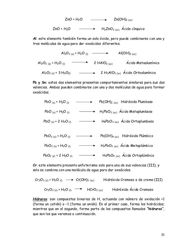 19 20 zno h2o - Tabla Periodica De Los Elementos H2o