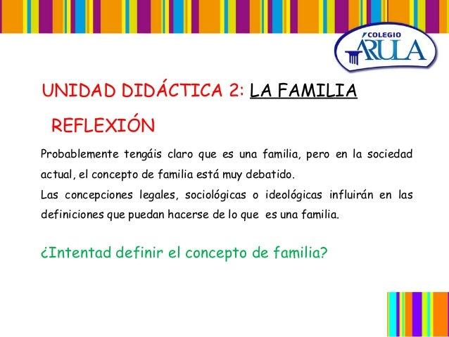 Unidad 2. la familia Slide 2
