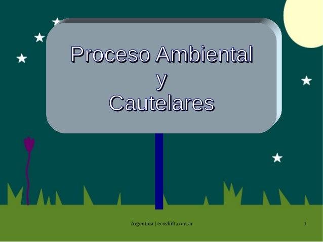 Proceso Ambiental y Cautelares  Argentina | ecoshift.com.ar  1
