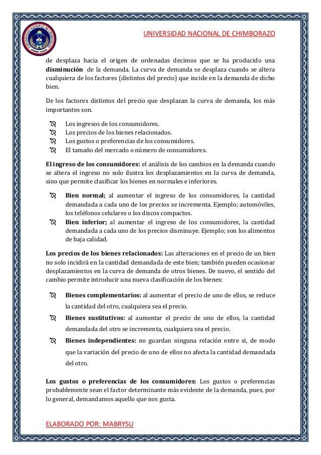 UNIVERSIDAD NACIONAL DE CHIMBORAZOELABORADO POR: MABRYSUde desplaza hacia el origen de ordenadas decimos que se ha produci...