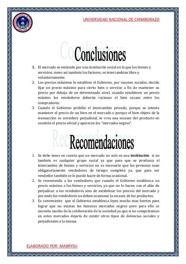 UNIVERSIDAD NACIONAL DE CHIMBORAZOELABORADO POR: MABRYSU1. El mercado se entiende por una institución social en la que los...
