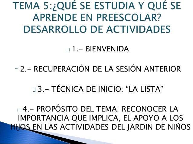 Unidad 2 escuela para padres preescolar diapositivas for Actividades en el jardin