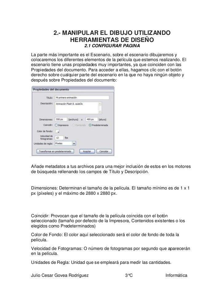 2.- MANIPULAR EL DIBUJO UTILIZANDO                 HERRAMIENTAS DE DISEÑO                           2.1 CONFIGURAR PAGINAL...
