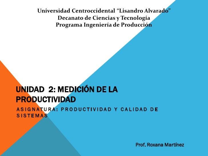 """Universidad Centroccidental """"Lisandro Alvarado""""                Decanato de Ciencias y Tecnología               Programa In..."""