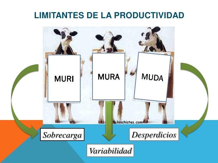 LIMITANTES DE LA PRODUCTIVIDAD    MURI        MURA Sobrecarga                  Desperdicios              Variabilidad