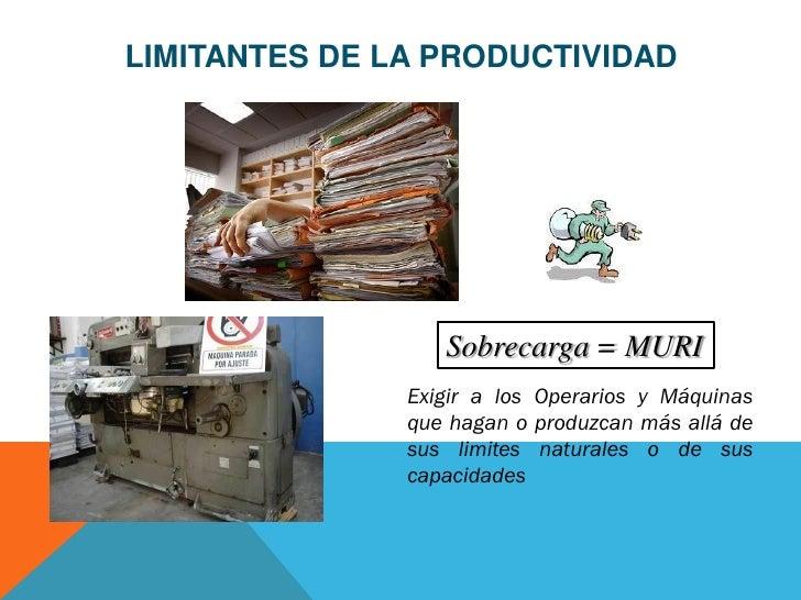 LIMITANTES DE LA PRODUCTIVIDAD                  Sobrecarga = MURI               Exigir a los Operarios y Máquinas         ...