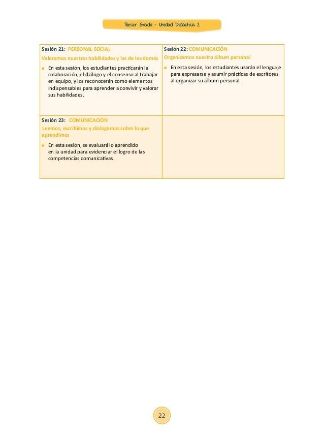 sesiones 3 grado primaria 2015 rutas unidad 2 sesiones