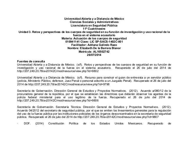 Universidad Abierta y a Distancia de México Ciencias Sociales y Administrativas Licenciatura en Seguridad Pública 1...