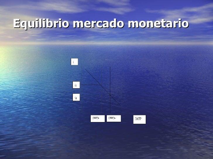 Equilibrio mercado monetario