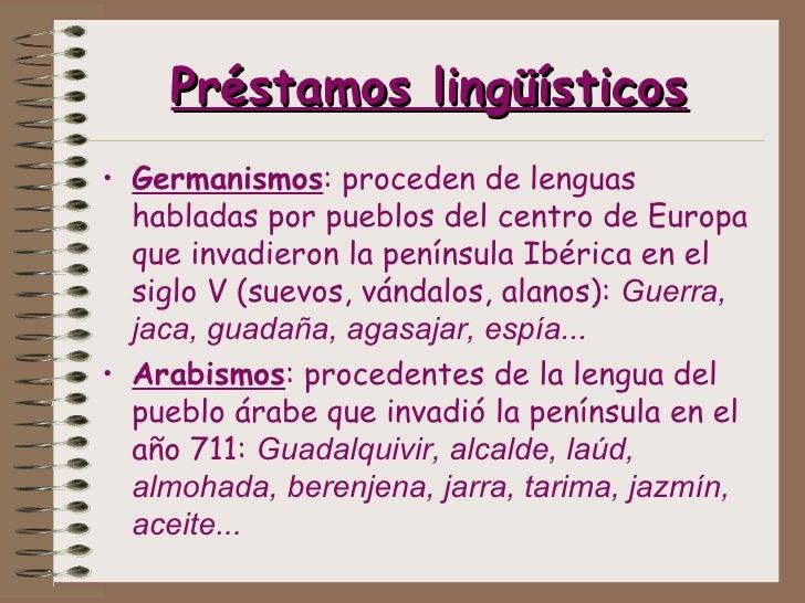 que son prestamos linguisticos
