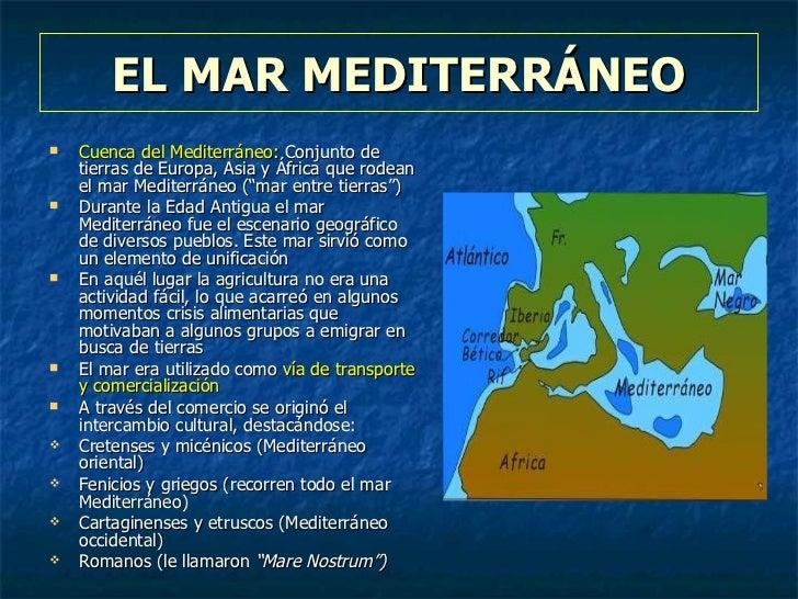 escenario de antiguas el mar mediterrneo