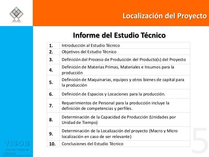 Unidad 3 estudio t cnico for Proyecto tecnico ejemplos