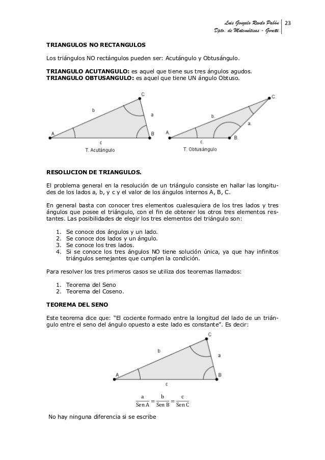 Luis Gonzalo Revelo Pabón 23                                                            Dpto. de Matemáticas - GorettiTRIA...