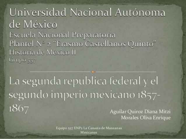 Aguilar Quiroz Diana Mitzi                                   Morales Oliva EnriqueEquipo 557 ENP2 La Canasta de Manzanas  ...