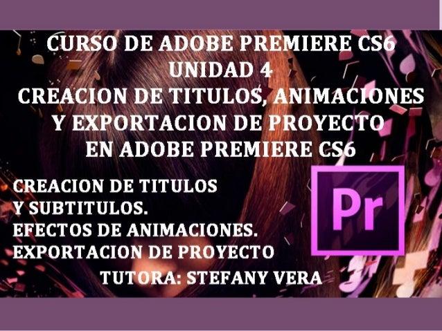 CRACION DE TITULOS Y SUBTITULOS  Abrimos un proyecto Pal DV en Premier