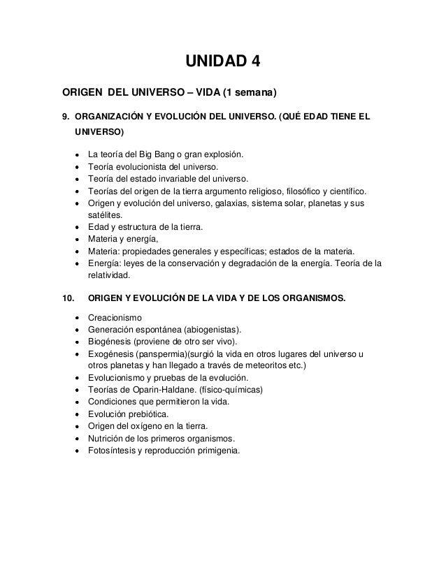 UNIDAD 4 ORIGEN DEL UNIVERSO – VIDA (1 semana) 9. ORGANIZACIÓN Y EVOLUCIÓN DEL UNIVERSO. (QUÉ EDAD TIENE EL UNIVERSO) La t...
