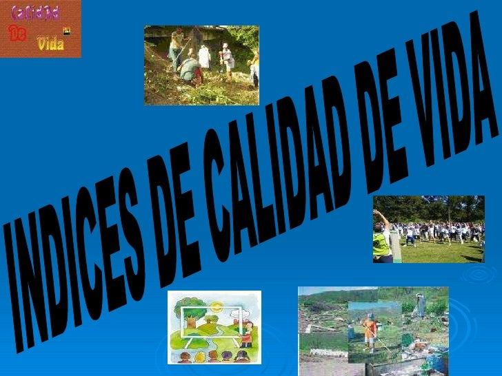 INDICES DE CALIDAD DE VIDA