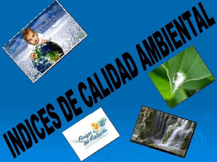 INDICES DE CALIDAD AMBIENTAL